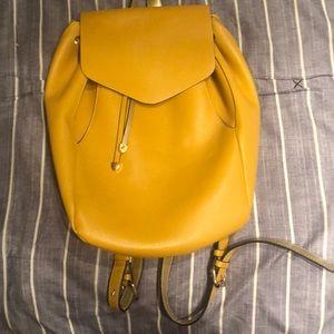 Yellow backpack/ purse- ZARA- Lightly used